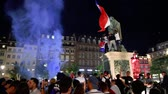 place kleber : STRASBOURG, FRANCE - JULY 10, 2018: Happy ambiance on Central Place Kleber after the victory of France qualify for the final of the 2018 FIFA World Cup after their victory over Belgium 1-0