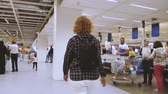 pov : DELFT, NETHERLANDS - CIRCA 2018: Customer POV in the IKEA furniture store walking near cashiers area