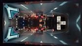 irreal : KEHL, GERMANY - CIRCA 2018: Cinematic square minded bending inception sci-fi effect of a highway at the border between France and Germany - driver pov