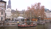 policeman : STRASBOURG, FRANCE - DEC 11, 2018: Batorama tourist boat service with no tourists after the terrorist attack in the Strasbourg Christmas market area