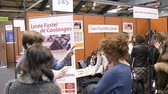 orientação : STRASBOURG, FRANCE - CIRCA 2018: Children and teens of all ages attending annual Education Fair to choose career path and receive vocational counseling at lycee fustel de coulanges Vídeos