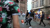 jubel : STRASBOURG, FRANCE - JULY 15, 2018: Happiness and jubilation of supporters after the victory of the French team in the final of the World Cup football in Russia against Croatia Stock Footage