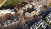 multistory : Aerial view on tower crane on construction site