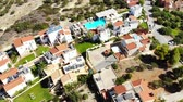 hostel : Aerial panorama on small resort village, hotel, swimming pool, Crete
