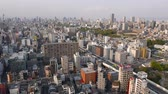 multistory : Busy road traffic from top in Osaka, Japan Stock Footage