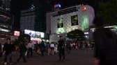 multistory : People cross road at famous Shibuya conjunction, Tokyo, Japan