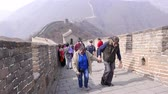 pequim : Tourists on Great Wall of China