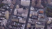szomszédság : Cityscape of Midtown District in Manhattan. Residential Neighborhood. Aerial View. New York City, United States of America