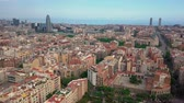 antonio : summer day barcelona cityscape aerial panorama 4k spain