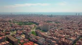 port of barcelona : summer day barcelona cityscape aerial panorama spain