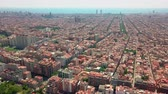 olympic park : Aerial view over Barcelona