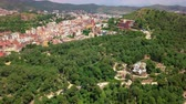 modernism : Aerial view from famous Park Guell in Barcelona