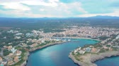maiorca : Aerial view landscape of the beautiful bay of Cala Anguila with a wonderful turquoise sea, Porto Cristo, Majorca, Spain