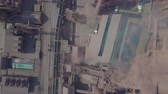 metallurgical industry : Aerial view. Old factory. Stock Footage