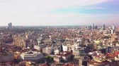 lombardy : sunny day milan cityscape aerial panorama 4k italy