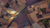 toscana : Aerial view. Flight over a mediaeval town of Fine Towers, San Gimignano, Tuscany, Italy Stock Footage