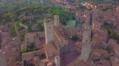 тосканский : Sunset in San Gimignano, Tuscany Italy