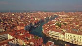 gondoliere : Aerial view of Venice and its Grand canal