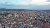 cristandade : Aerial drone footage video - panoramic view of Florence Stock Footage