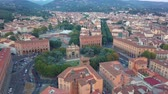 toscana : Aerial drone footage video - panoramic view of Florence Stock Footage