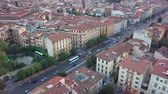 florencja : Aerial drone footage video - panoramic view of Florence Wideo