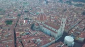 florencja : Aerial view on the city and Cathedral of Santa Maria del Fiore. Florence, Tuscany, Italy Wideo