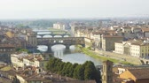 catholic : Aerial view of Florence, tuscany, Italy. Flying over the Florence roofs.