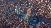 toszkána : Aerial view of Florence, tuscany, Italy. Flying over the Florence roofs.