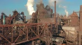 pec : Aerial view. Blast furnace construction. Metallurgical Plant, Cargo crane