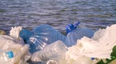 aterro : Pollution: garbages, plastic, and wastes on the beach after winter storms