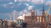 fumes : Timelapse 4K. Smoking factory chimneys. Environmental problem of pollution of environment and air in large cities