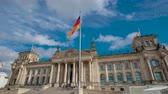 parlamento : Timelapse. The famous building of the Bundestag is one of the symbols of Berlin