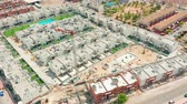 basis : Aerial view. big construction crane, close up. Construction crane on a building background, Spain Videos