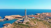 yelken : Aerial video of the Faro Cabo de Palos lighthouse, spain.