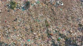 zwerfvuil : Aerial view. Garbage pile in trash dump. Environmental pollution from consumerism household. Stockvideo