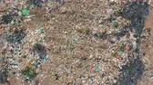 Aerial view. Garbage pile in trash dump. Environmental pollution from consumerism household. Stockvideo