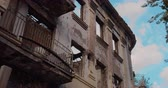 rez : The destroyed building after the war. Close up. Dostupné videozáznamy