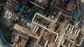 petrochemical : Aerial top down view over oil refinery or chemical factory. Stock Footage