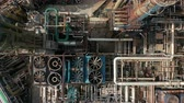 ozone layer : Aerial top down view over oil refinery or chemical factory. Stock Footage