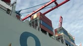 management : Port of Hamburg - Container ship 2 Stock Footage