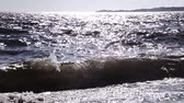 smooth water : Calm Ocean and Waves View during the summer Stock Footage