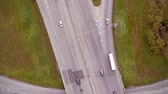 construir : Aerial Footage of Highway and Overpass with cars and trucks Aerial Footage of Highway and Overpass Urban Life  Closeup with cars and trucks modern