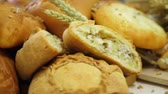 буханка : Breads and Baked Goods Large Assortment Fresh Baked and Crispy Close Up
