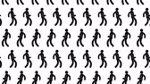 metro : Celebrating dancing pictogram people seamless moving animated looped pattern. Stock Footage