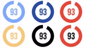 metro : Circular loading progress bar with counter - six color options. Looped animation with alpha channel. Stock Footage