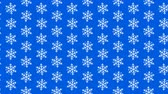снегопад : Video looped geometric snowflakes pattern on blue background Стоковые видеозаписи