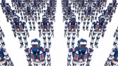 exército : Army of clone robots. 3d seamless render looped animation. Vídeos