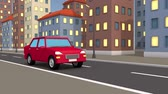 boucle : 3d car rides through the abstract city.