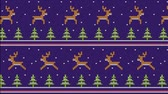 rena : Knitted pattern for sweater with running deer and Christmas trees