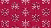 Knitted snowflake pattern for scandinavian sweater Wideo
